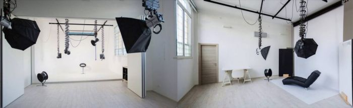 WhiteStudio - Vista totale della sala